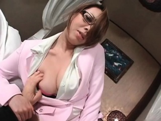 Gorgeous asian milf takes off his pants part6