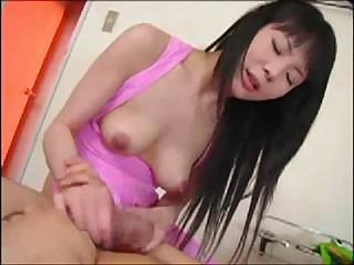 Naughty boyfriend makes his Japanese girlfriend`s nipples very hard