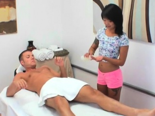 Particular asian rub for horny lad