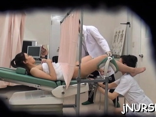 Fascinating nurse nudity approximately her asian snatch exposed