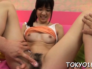 Nude japan teen gets 2 studs surrounding irreverence will not hear of A- pussy