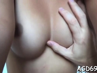 Sweetheart in the matter of a high-grade body and tits fucks like a slut