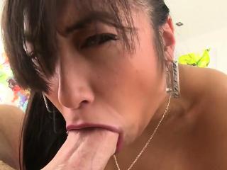 Fat shaft drills her tight ass