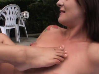 Outdoor pussy fraying fest that you adore
