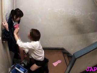 Japanese mature sweetheart gets will not hear of moist cum-hole fingered