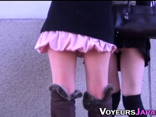 Asian toddler filmed upskirt