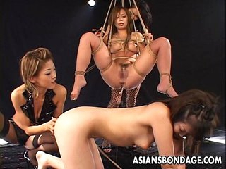 Freaky Asian bitches having a bdsm session