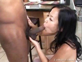 Little Asian Niya Yu learns her holes belong to Black cock