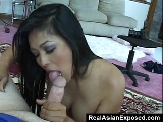 Cock Starved Asian Swallow His Load