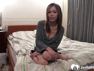 Adorable brunette Asian pleasured and fucked hard